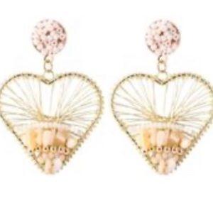 Bohemian heart shaped earrings